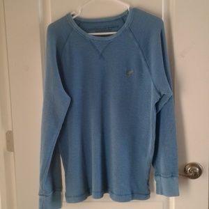 AEO Thermal long sleeve shirt sz L blue